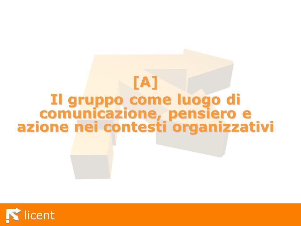 [A] Il gruppo come luogo di comunicazione, pensiero e azione nei contesti organizzativi